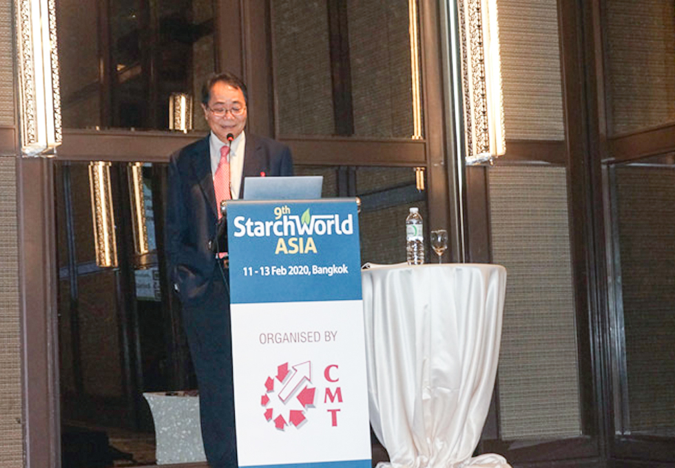 SMS spoke on the novel waxy tapioca starch and trends on clean food solution at the 9th Starch World