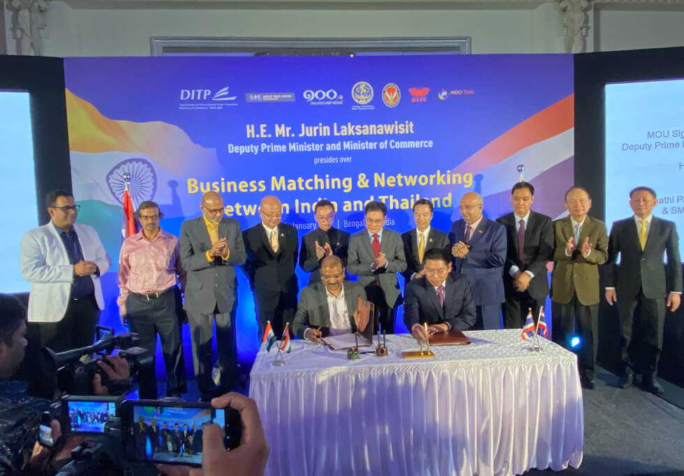 SMS attended MOU signing ceremony to implement India-Thailand Business Matching and Networking