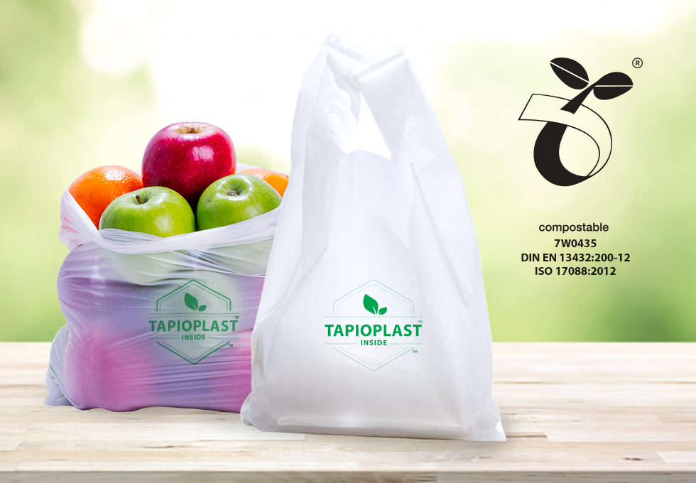 TAPIOPLAST®TPS  is evaluated and certified as a compostable material by the international standards